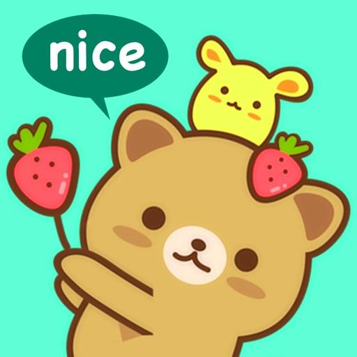 Strawberry Cat ストロベリーキャット ステッカー絵文字