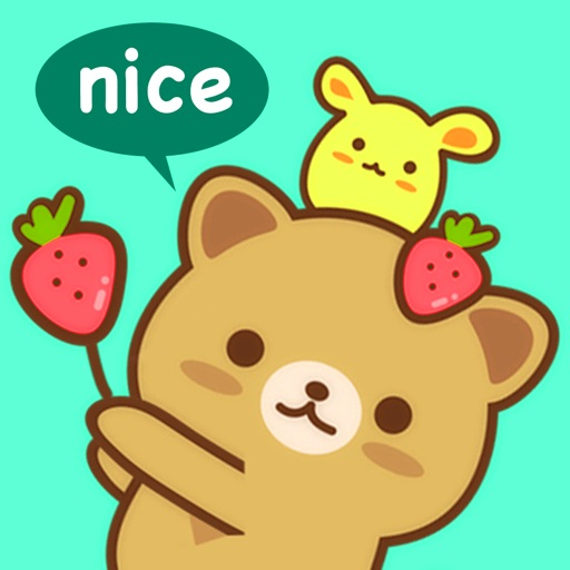 Strawberry Cat Emoji Sticker for iMessage