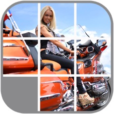 Activities of Hot Babes on Hot Bikes Sliding Puzzle