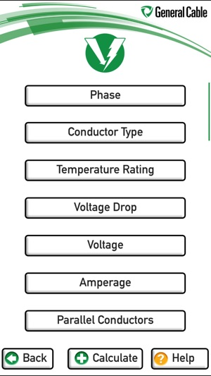 General cable voltage drop calculator on the app store keyboard keysfo Gallery