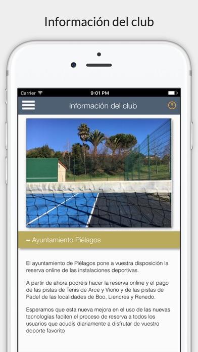 Piélagos deportes screenshot 1