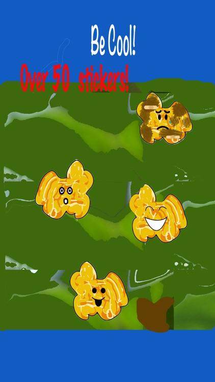The Funky Popcorn Emoji Stickers