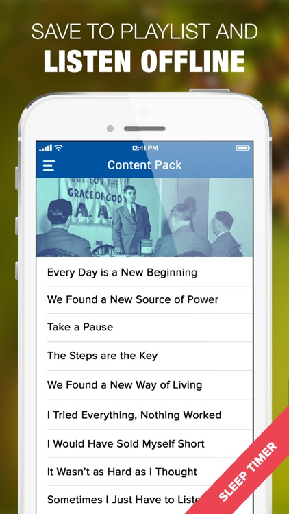 AA Audio Companion App for Alcoholics Anonymous screenshot-4