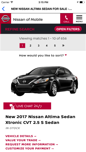 Nissan Of Mobile >> Nissan Of Mobile On The App Store