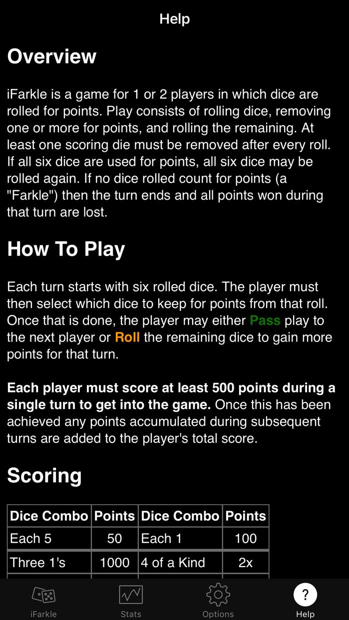 iFarkle (Ad Supported) Screenshot