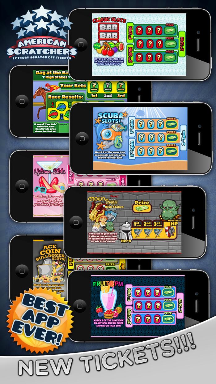American Scratchers Lottery Scratch Off Tickets Screenshot
