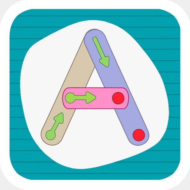 J'apprends à écrire Les Majuscules Bâtons Dans L'App Store