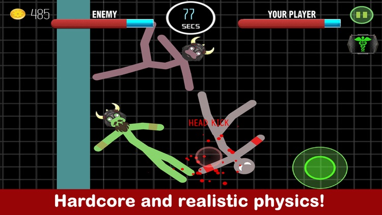 Stickman Fight Boxing Physics Games screenshot-4