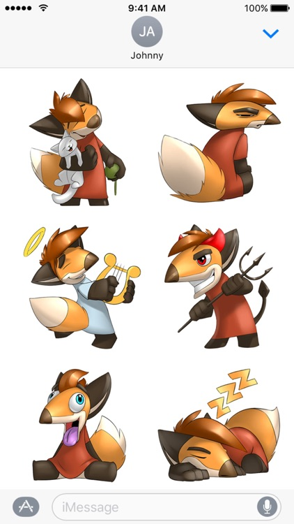 Digger the Fox Stickers for iMessage