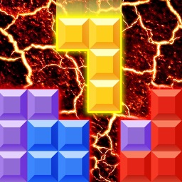 Block Puzzle Lava - The floor is on fire