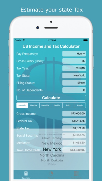 US Income and Tax Calculator screenshot-3