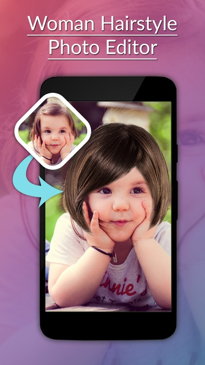 Woman Hairstyle Photo Editor - Hairstyle Stickers