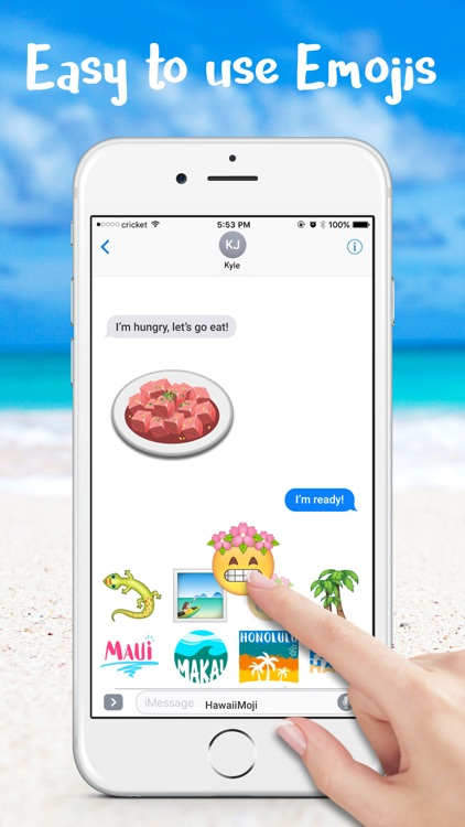 HawaiianMoji - Hawaii Food & Drink Emoji Stickers