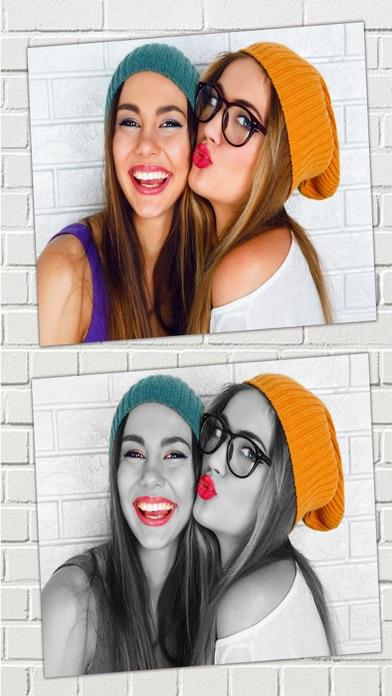 Efectos de color – blanco y negro foto editorCaptura de pantalla de1