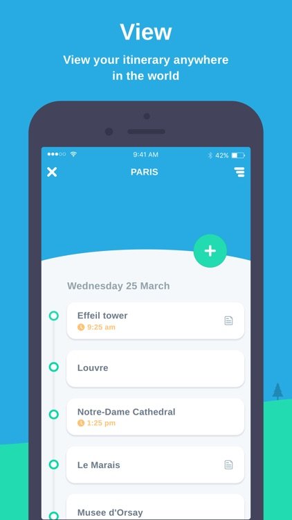 Map My Itinerary - Simple Travel Organiser by Dylan Westbury Map My Itinerary on media map, trip map, attractions map, tariff map,