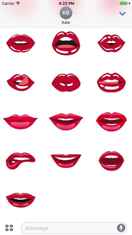 Beautiful Lips Sticker Pack screenshot-3