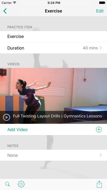 InfiniteGymnastics Practice Planner