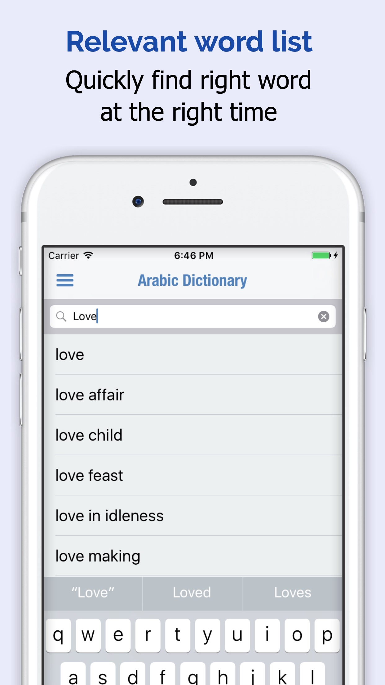 Arab Kamus Screenshot