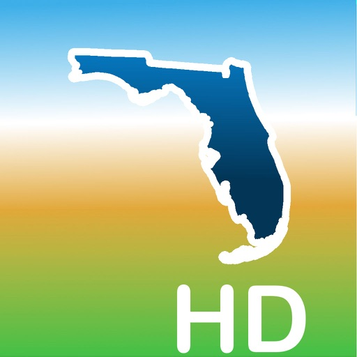 Aqua Map Florida FL Lakes HD - GPS Nautical Charts