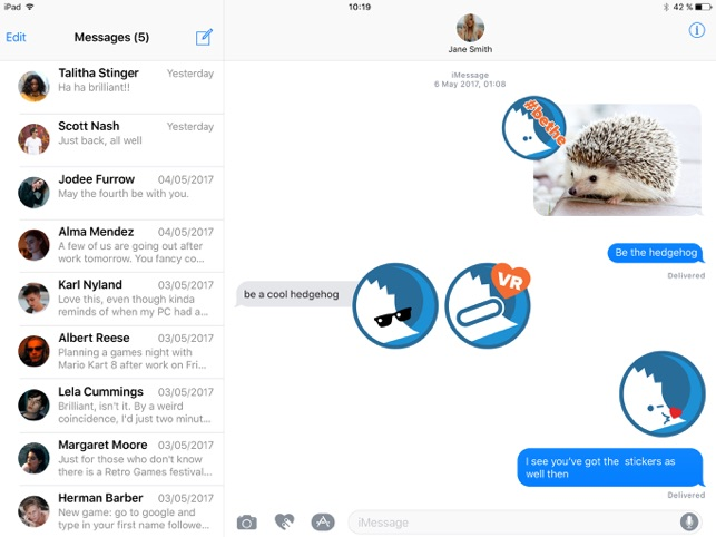 hedgehog Stickers on the App Store