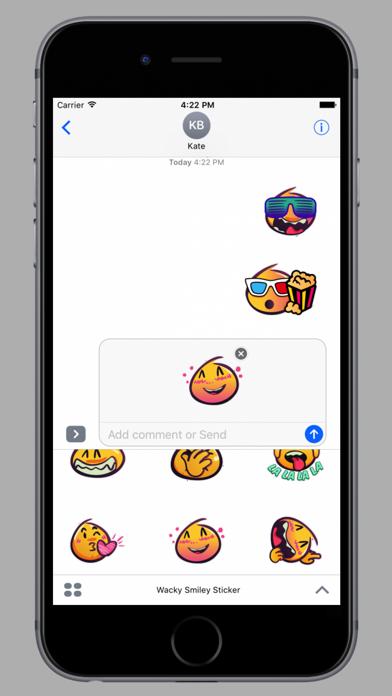 Wackey Smiley Sticker screenshot 3