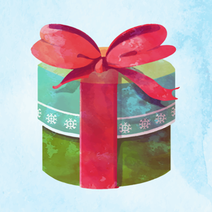 Watercolor Christmas Sticker Pack app