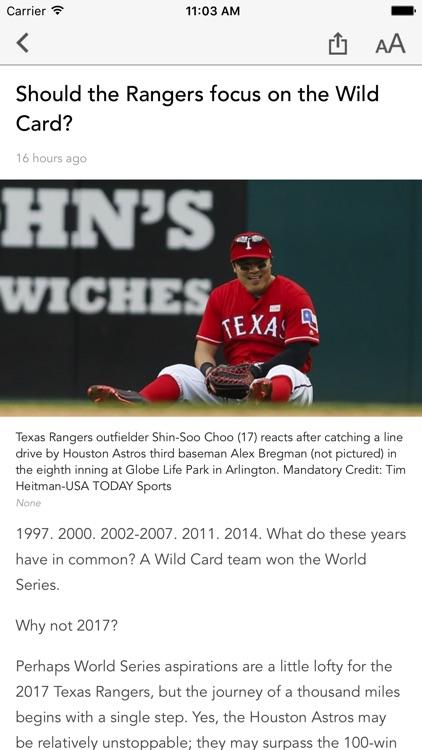 Baseball Texas - Rangers News screenshot-3