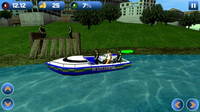 Power Boat Transporter: Police - Pro Screenshot 4