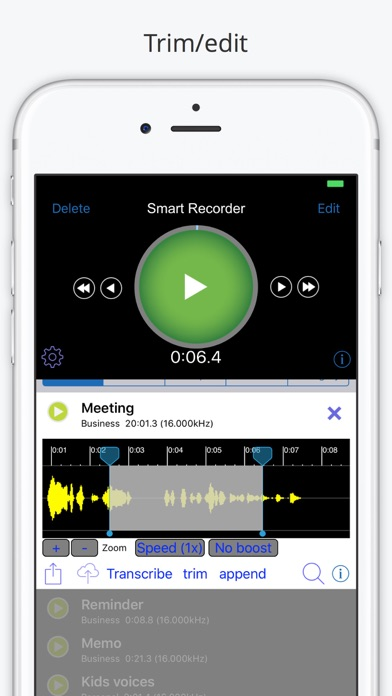 Smart Recorder and transcriber app image