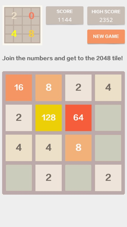 2048 4x4 - Number Puzzle Classic Game by Maosong Li
