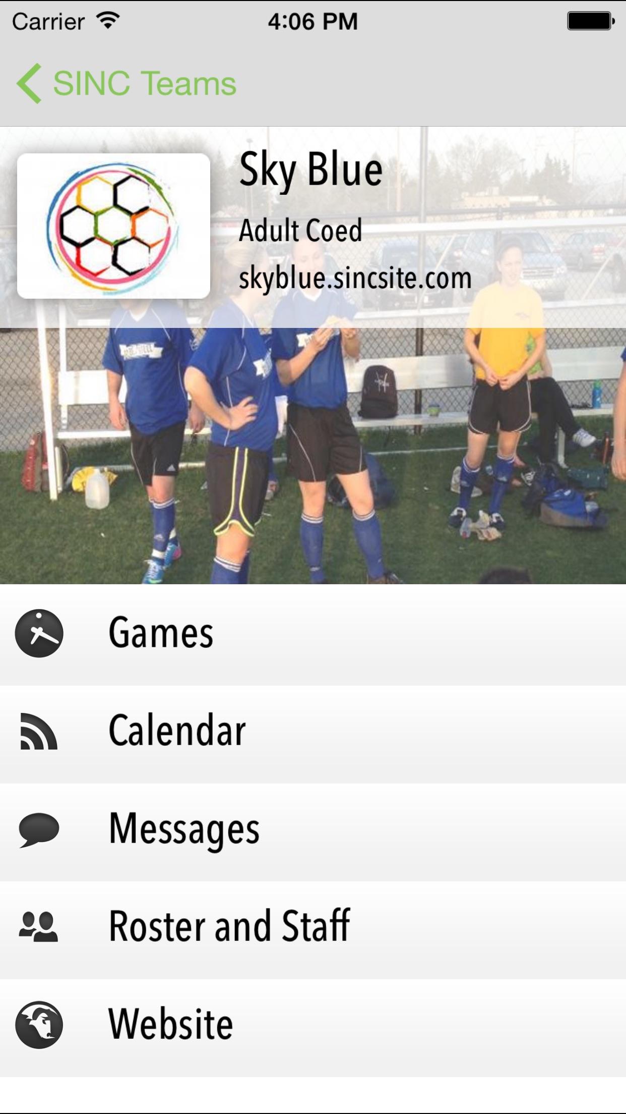 SincSports Screenshot