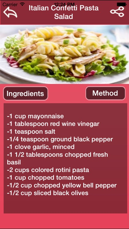 Italian Salad Recipes screenshot-1