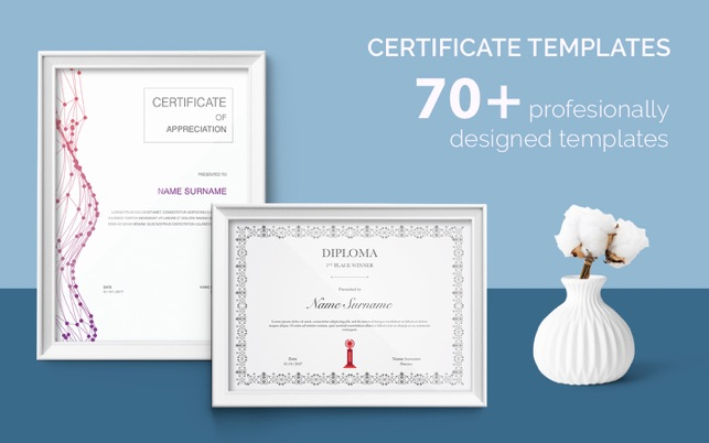 Certificate templates 70 templates for pagesmac app store yelopaper Gallery
