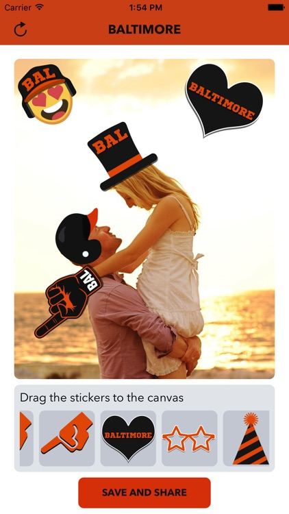 Baltimore Baseball Stickers & Emojis screenshot-0