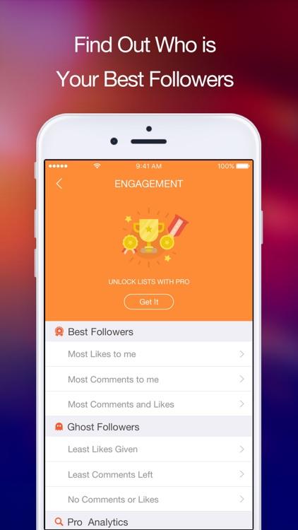Follow Me - Analyze Unfollow & Likes for Instagram app image