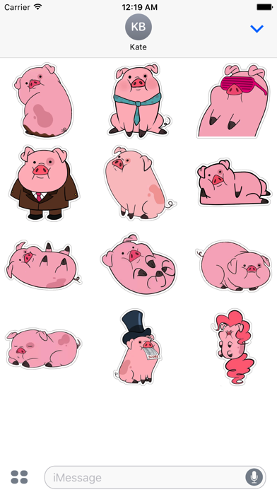 Piggey Stickers for iMessage