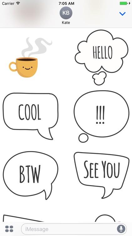 Coffee Time Emojis screenshot-3