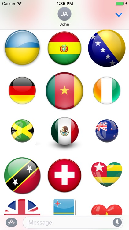 Fun Flags Stickers