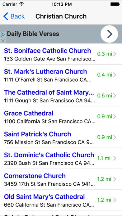 Church Finder: Find & Locate Nearby Churches screenshot two