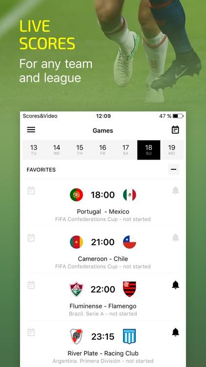 Scores & Video – soccer live