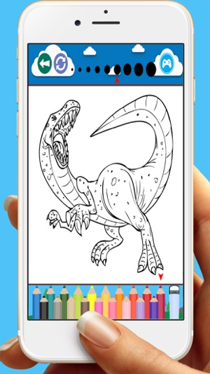 Coloring Book Dinosaurs Games For Kids On The App Store