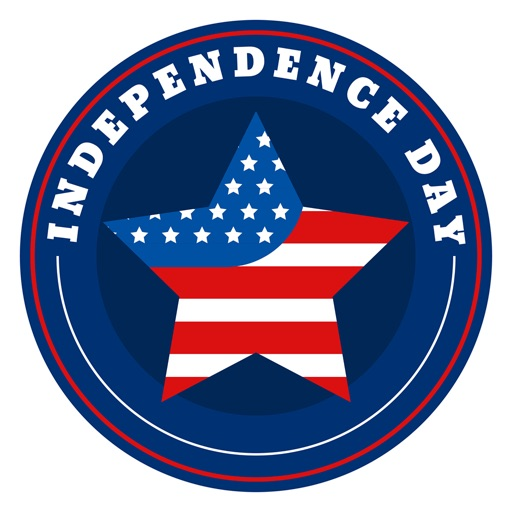 4th of July - 120+ Badge Independence Day Stickers