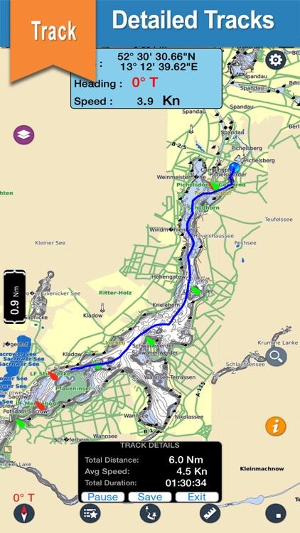 North Dakota offline nautical charts for boating