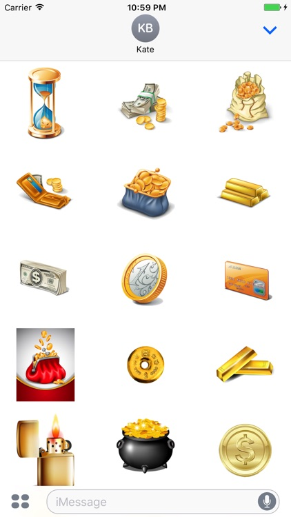 Gold Coin Stickers