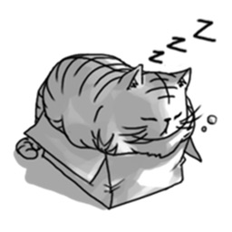 Thug Life Of Lazy Cat Stickers