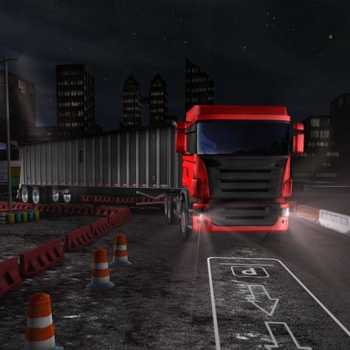 Ночной грузовик Парковка водителя 3D - Гавань шосс