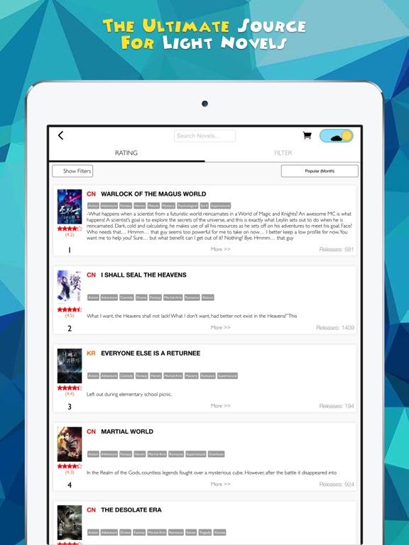 Novel Updates, The Best Reader for Light Novels | App Price