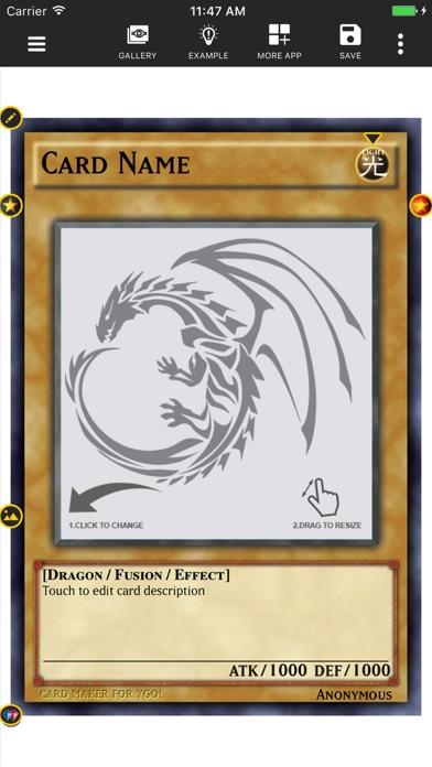 Card Maker Creator for YugiOh Screenshot 1
