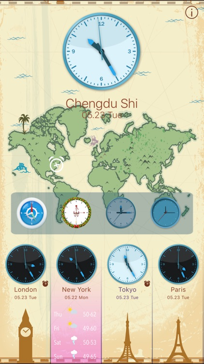 World Clock HD for Time Zones screenshot-3