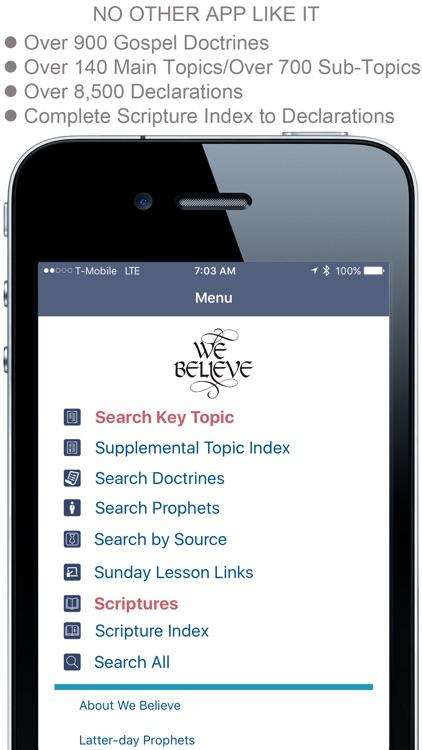 We Believe - LDS Doctrines